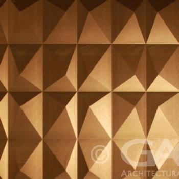 decorative metal aluminum wall panel brass